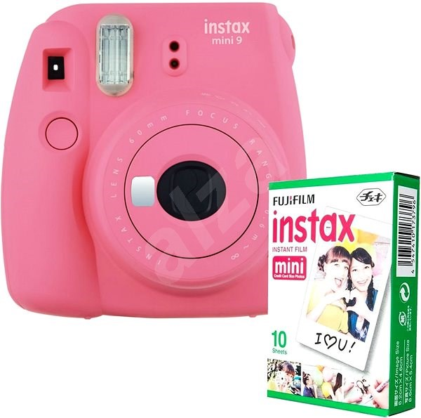 Fujifilm Instax Mini 9 růžový + 10x fotopapír - Instantní fotoaparát