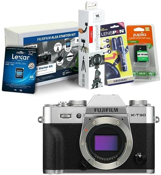 Fujifilm X-T30 tělo stříbrný + Fujifilm Foto Starter Kit - Digitální fotoaparát