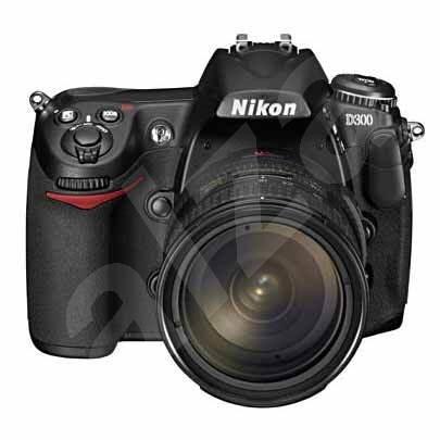 "NIKON D300 černý (black), CMOS 12 Mpx, 3"" LCD, HDMI, Li-Ion, CF I/ CF II/ Microdrive + Objektiv 16-8 - Digitální zrcadlovka"