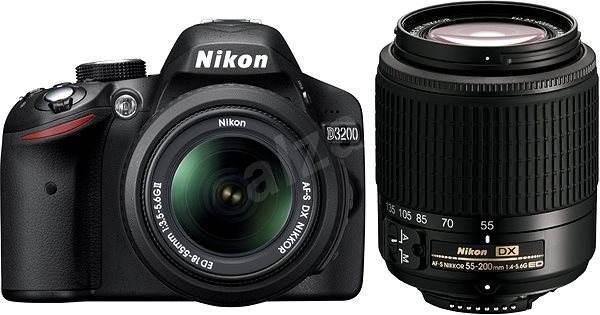 Nikon D3200 + Objektivy 18-55 AF-S DX + 55-200 AF-S DX - Digitální zrcadlovka
