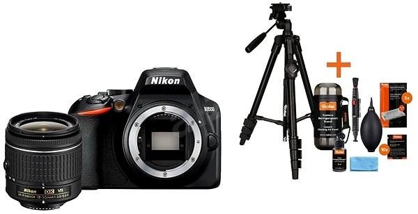 Nikon D3500 černý + 18-55mm VR + Rollei Foto Starter Kit 2 - Digitální fotoaparát
