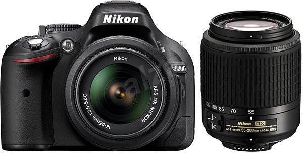 Nikon D5200 + Objektivy 18-55 AF-S DX + 55-200 AF-S - Digitální zrcadlovka