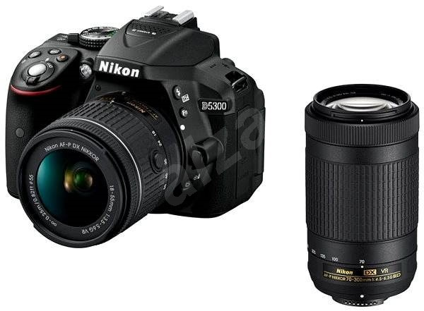 Nikon D5300 černý + 18-55mm AF-P VR + 70-300mm AF-P VR - Digitální fotoaparát