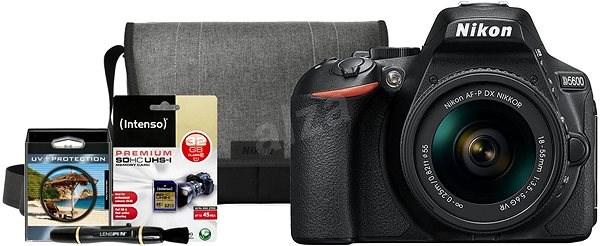 Nikon D5600 + 18-55mm AF-P VR Kit + Nikon Starter Kit - Digitální fotoaparát