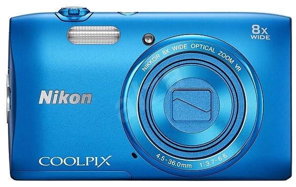 Nikon COOLPIX S3600 blue - Digitální fotoaparát