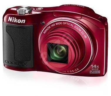 Nikon COOLPIX L610 red - Digitální fotoaparát