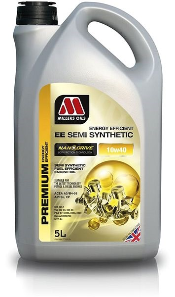 Millers Oils NANODRIVE - EE Semi Synthetic 10W-40 5l - Motorový olej