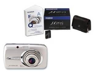 "Olympus [mju:] 600 Digital arktická stříbrná (arctic silver), CCD 6 Mpx, 3x zoom, 2.5"" LCD, Li-Ion,  - Digitální fotoaparát"