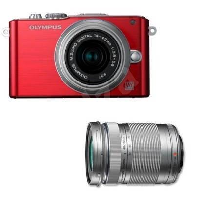 Olympus PEN E-PL3 + Objektivy 14-42mm II R + 40-150mm red/ silver - Digitální fotoaparát