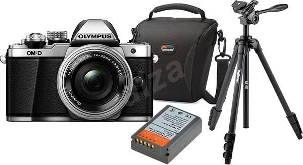 Olympus E-M10 Mark II silver/silver + ED 14-42mm EZ + Olympus Starter Kit - Digitální fotoaparát