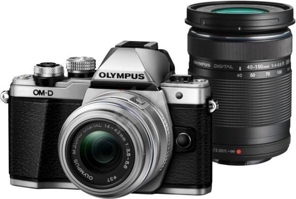 Olympus E-M10 Mark II stříbrné/černé + 14-42mm + 40-150mm II R DZ - Digitální fotoaparát