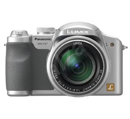 "Panasonic LUMIX DMC-FZ7EG-S stříbrný (silver), CCD 6 Mpx, 12x zoom, 2.5"" LCD, Li-Ion, SD/ MMC, stabi - Digitální fotoaparát"