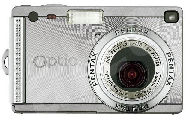 Pentax Optio S5i, 5.0 mil. bodů, interní paměť 10 MB + SD/MMC karty + SD karta 256 MB a kož. pouzdro - Digitální fotoaparát