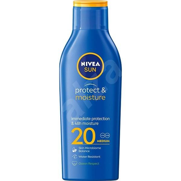 NIVEA SUN Protect & Moisture SPF 20 200 ml - Opalovací mléko