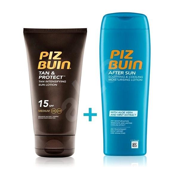 PIZ BUIN Tan & Protect Lotion SPF15 + After Sun Soothing&Cooling Lotion - Kosmetická sada