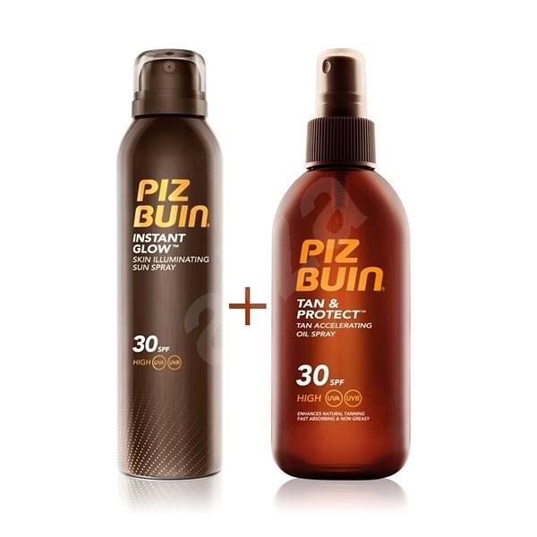 PIZ BUIN Tan & Protect Oil Spray SPF30 + Instant Glow Spray SPF30 - Kosmetická sada