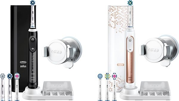 Oral-B Genius 9000 Black + Oral-B Genius 9000 Rose Gold - Sada