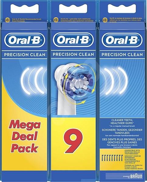 Oral-B náhradní hlavice Precision clean 9ks - Náhradní hlavice