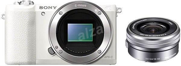 Sony Alpha A5100 bílý + objektiv 16-50mm  - Digitální fotoaparát