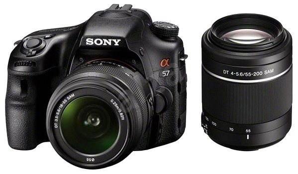 Sony Alpha A57 + objektiv 18-55mm a 55-200mm - Digitální zrcadlovka