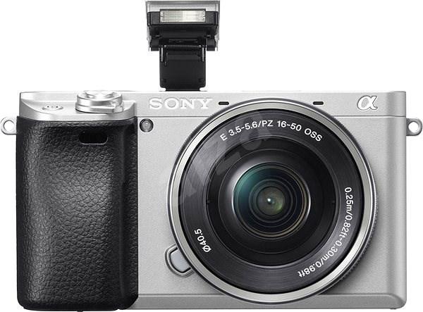 Sony Alpha A6300 stříbrná + objektiv 16-50mm - Digitální fotoaparát