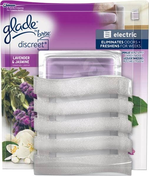 GLADE Discreet Electric Lavender&Jasmine 8 g - Osvěžovač vzduchu