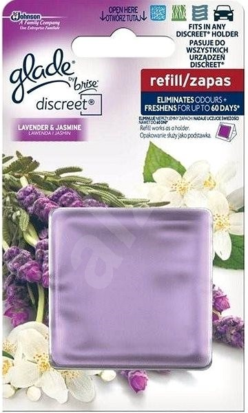 GLADE Discreet Lavender&Jasmine 8 g - Osvěžovač vzduchu