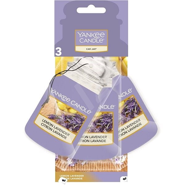 YANKEE CANDLE Car Jar Lemon Lavender 3 ks - Vůně do auta