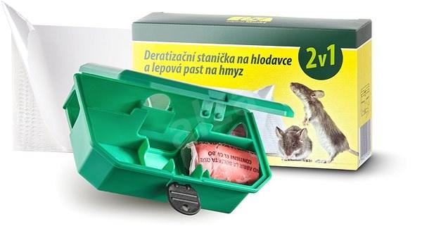 PAPÍRNA MOUDRÝ Deratizační stanička na hlodavce a lepová past na hmyz 2v1 - Lapač hmyzu