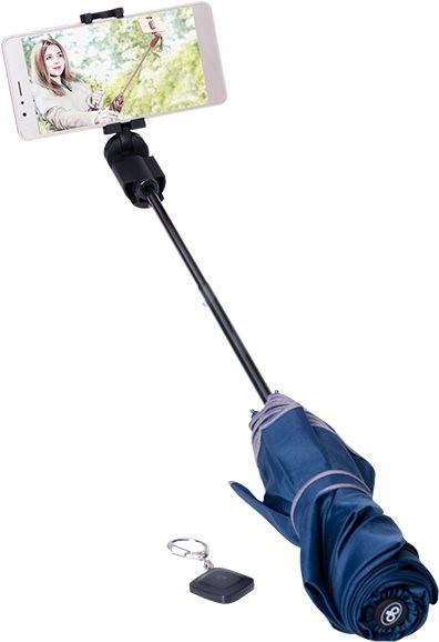Papaler deštník modrý - Selfie tyč