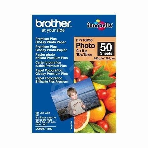 Brother BP71GP50 Premium Glossy - Fotopapír