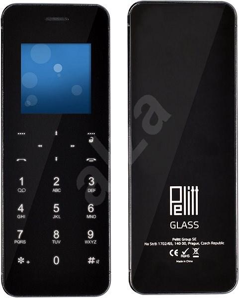 Pelitt BT1 Glass černá - Mobilní telefon