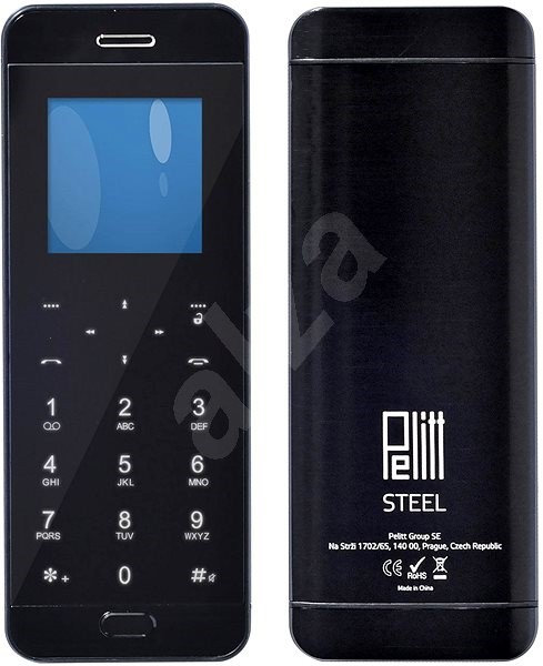 Pelitt BT1 Steel černá - Mobilní telefon