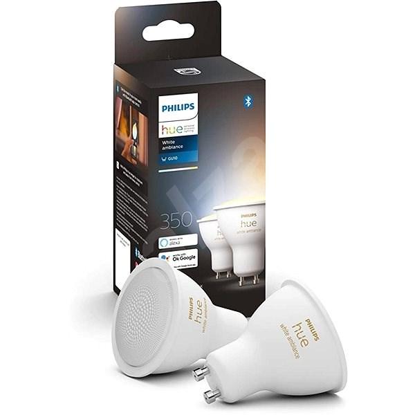 Philips Hue White Ambiance 5.5W GU10 set 2ks - LED žárovka
