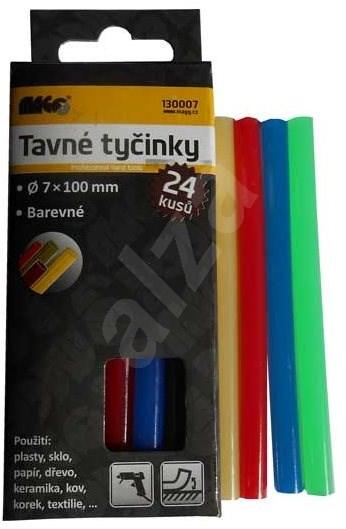 MAGG Tavné tyčinky 7 x 100 mm barevné 24ks - Lepicí tyčinky