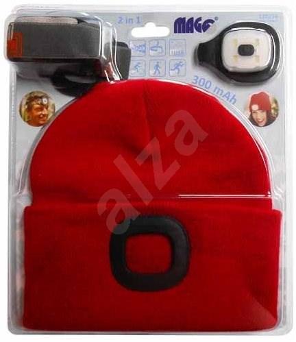 MAGG Čepice s LED světlem - červená - Čepice
