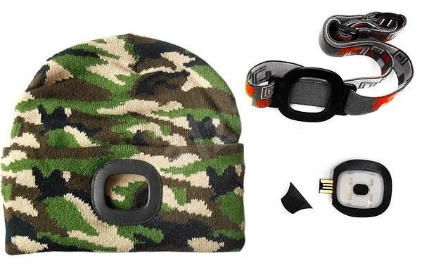 MAGG Čepice s LED světlem - maskovací/lesnická - Čepice