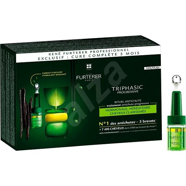 RENÉ FURTERER Triphasic Progressive Anti Hair-Loss  8 x 5,5 ml - Vlasová kúra