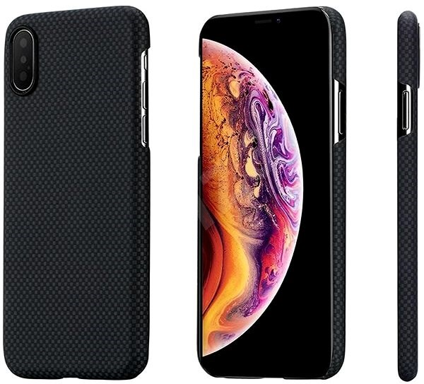 Pitaka Aramid Case Black/Grey Plain iPhone XS/X - Kryt na mobil