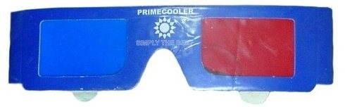 PRIMECOOLER 3D GLASSES Blue-Red - Papírové 3D brýle
