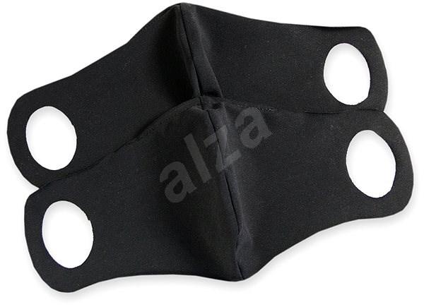 Komfortní rouška s drátkem černá 2 ks S - Ústenka