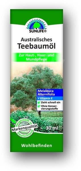SUNLIFE Australský Čajovník Tea Tree Oil 30 ml - Olej