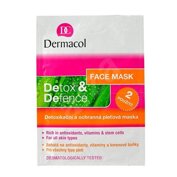 Dermacol Detox&Defence Face Mask 2x8 g - Pleťová maska
