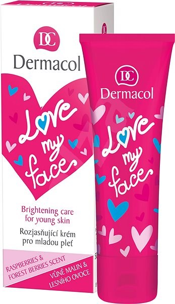 DERMACOL Love My Face Brigthening Care Rasberries & Forst Berries Scent 50 ml - Pleťový krém