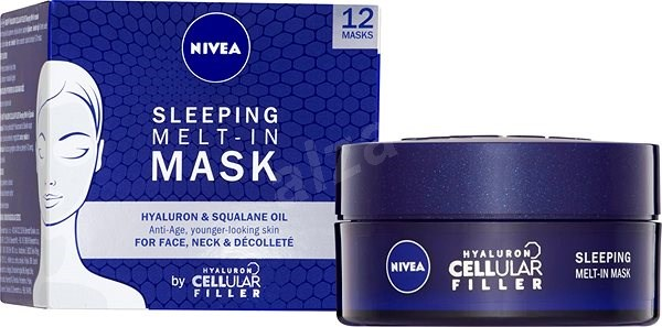 NIVEA Hyaluron Cellular Filler Sleeping Melt-In Mask 50 ml - Pleťová maska