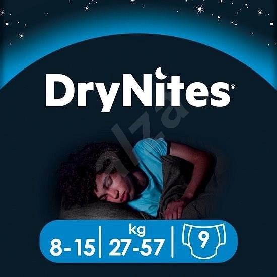 HUGGIES Dry Nites Large 8–15 years Boys (9 ks) - Dětské pleny