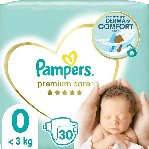 PAMPERS Premium Care Newborn vel. 0 (30 ks) - Dětské pleny
