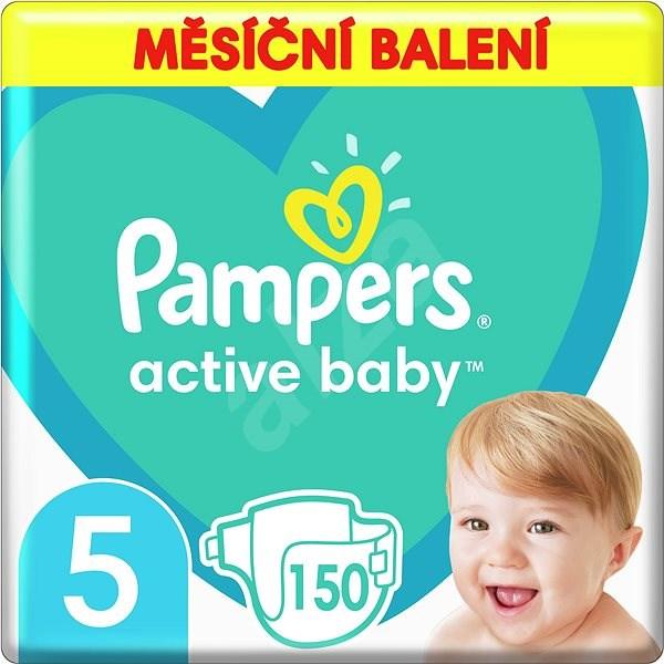 PAMPERS Active Baby vel. 5 Junior (150 ks) - měsíční balení - Dětské pleny