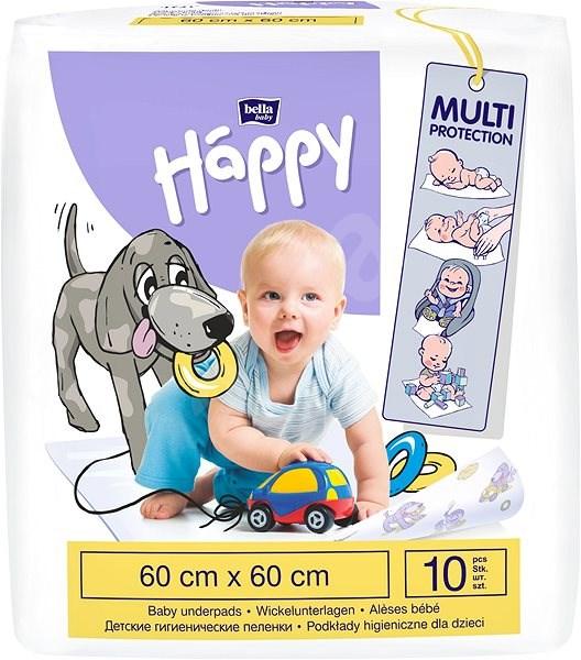 BELLA Baby Happy Dětské podložky 60 × 60 cm, 10 ks - Přebalovací podložka