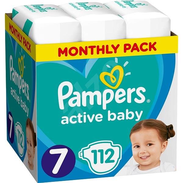 PAMPERS Active Baby vel. 7 (112 ks) - měsíční balení - Dětské pleny